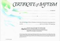 Christian Baptism Certificate Template Unique Baptism Certificate Free Printable Allfreeprintable Com Classycloud Co