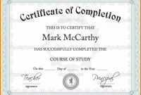 Class Completion Certificate Template Awesome Certificate Template Powerpoint Templates Free Download Business 014
