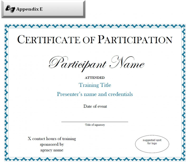 Conference Participation Certificate Template Awesome Sample Of Certificate Of Attendance Sazak Mouldings Co
