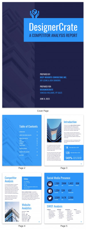 Construction Cost Report Template Unique 19 Consulting Report Templates That Every Consultant Needs Venngage