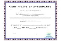 Continuing Education Certificate Template New Ceu Certificate Of Completion Template Brochure Templates