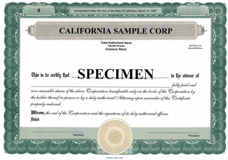 Corporate Secretary Certificate Template - 10+ Professional Templates