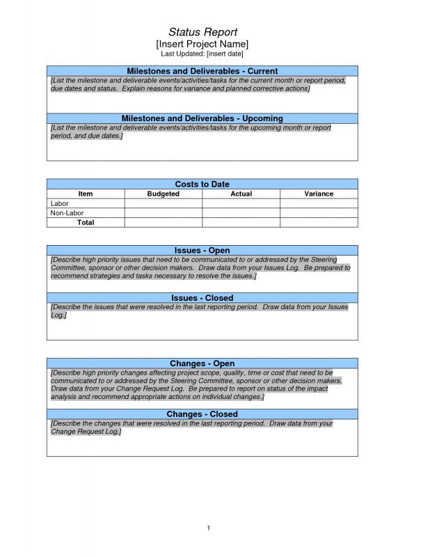 Corrective Action Report Template Unique Project Status Report Sample Pmp Project Status Report Sample