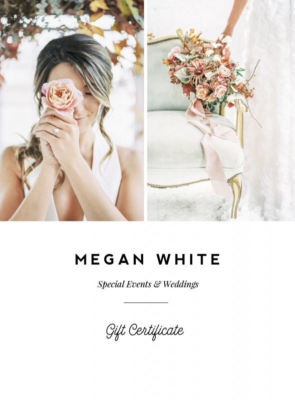 Custom Gift Certificate Template New Wedding Planner Gift Card Template Floral Designer Gift Certificate