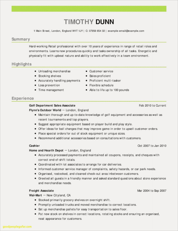 Customer Contact Report Template Unique 14 Retail Customer Service Resume Examples Resume Database Template