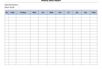 Daily Behavior Report Template New Weekly Sales Report Template Store Paperwork Needed Sales Report