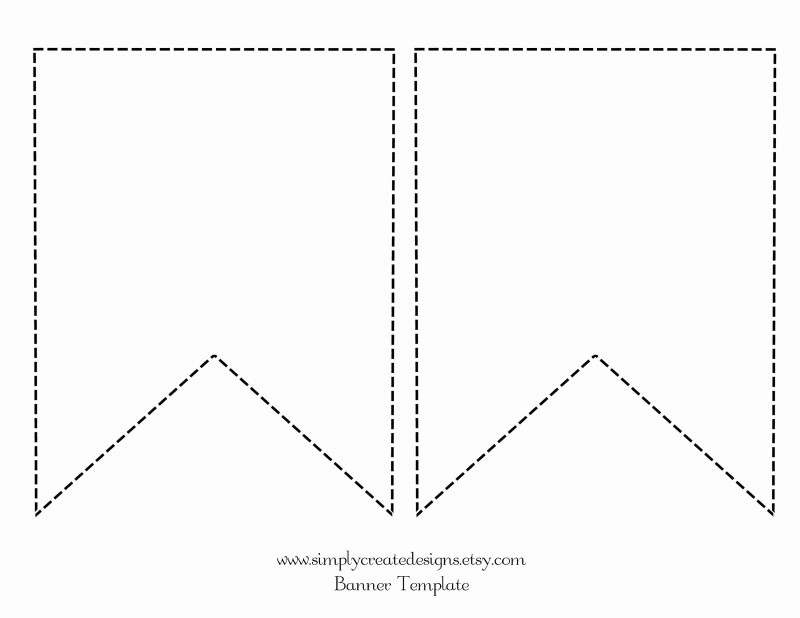 Diy Baby Shower Banner Template Awesome Scalloped Pennant Banner Template Wiring Diagram Database