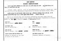 Editable Birth Certificate Template New Birth Certificate format Ajan Jessejamesjr Com