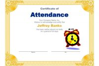 Employee Of The Month Certificate Template With Picture Awesome Attendance Certificate Templates Free Attendance Certificate