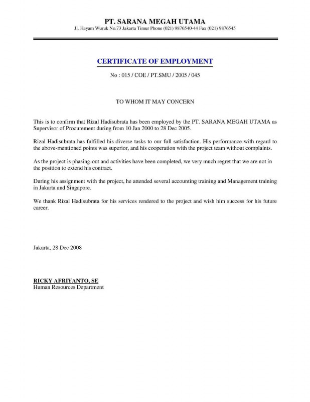 Employee Of The Month Certificate Template With Picture Awesome Letter Of Employment Template Word Gallery