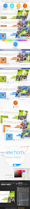 Facebook Banner Template Psd Awesome Facebook Real Estate Graphics Designs Templates