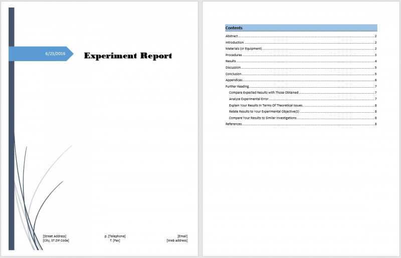 fault report template word