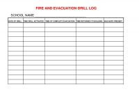 Fire Evacuation Drill Report Template Awesome Mileage Expense Report Template Ghabon Org