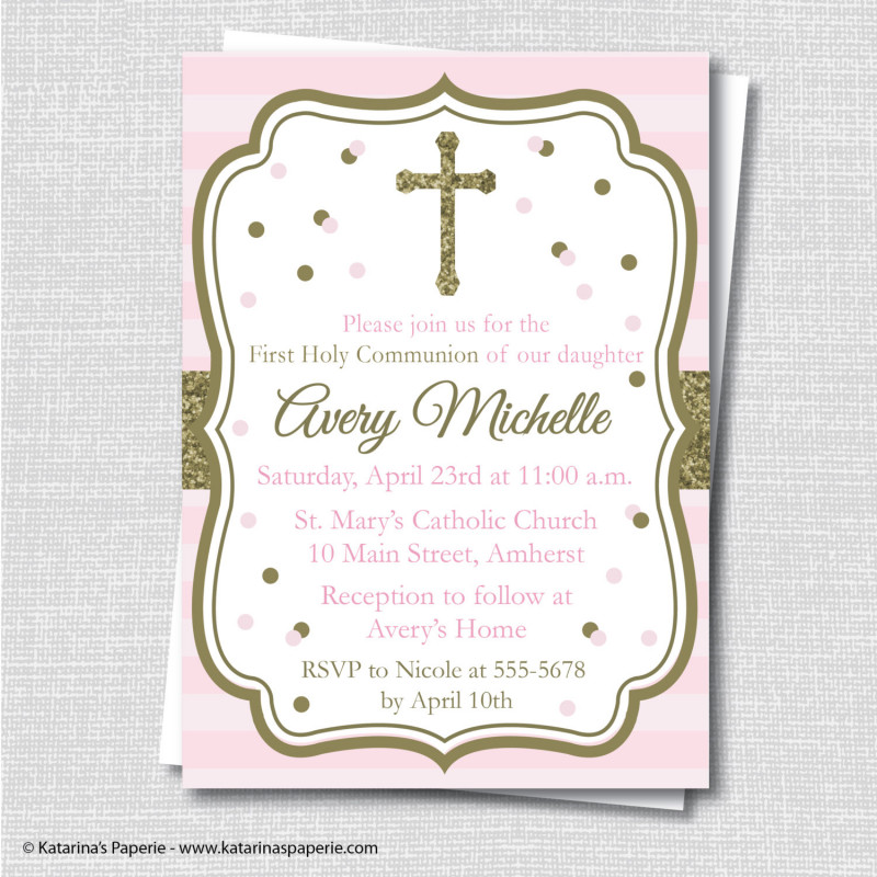 First Communion Banner Templates New First Communion Card Templates Free Best Of Design Striped Religious