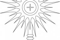 First Communion Banner Templates Unique Monstrance Coloring Page Google Search Line Drawings For