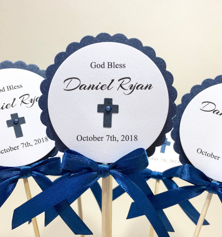 First Communion Banner Templates Unique Navy Blue Baptism Centerpieces First Holy Communion Etsy