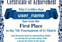 First Place Certificate Template Awesome Sample Certificate for Contest Winner Sazak Mouldings Co