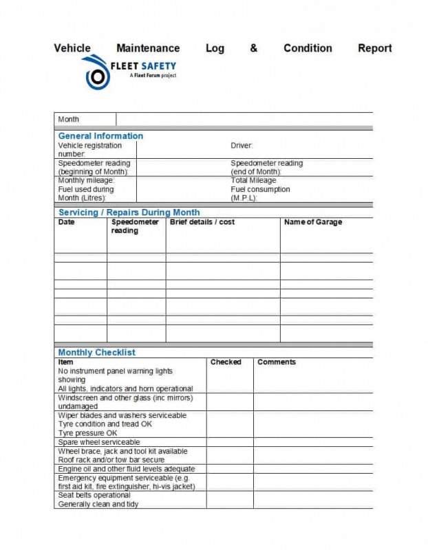 Fleet Management Report Template Awesome 007 Vehicle Maintenance Schedule Template Car Log Pdf Beautiful Of