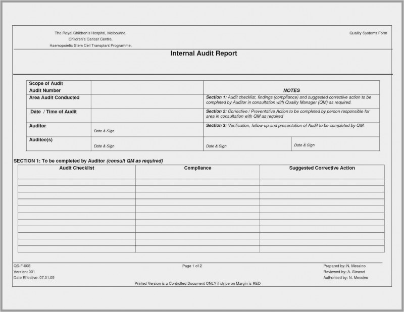 Forensic Accounting Report Template Awesome Free 57 Audit Report Template Free Download Free Download Template