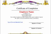 Forklift Certification Template Awesome Certificate Stock Template within Printable Radiodignidad org
