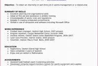 Free Certificate Of Completion Template Word Unique Sports Administration Resume Examples New Stock Work Resume Example