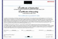 Free Certificate Of Destruction Template New Certificate Of Data Destruction Template New Certificate Data