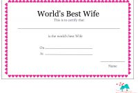 Free Printable Certificate Border Templates Awesome Free Printable Worlds Best Wife Certificates