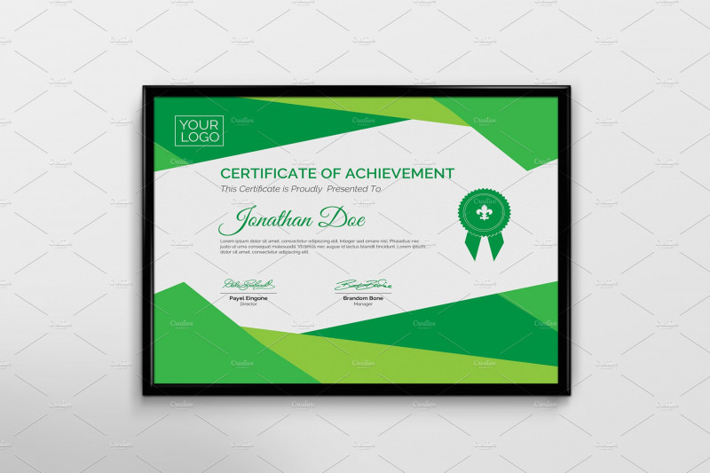 Free Printable Student Of The Month Certificate Templates Awesome 50 Certificate Templates To Design Stunning Awards Creative Market