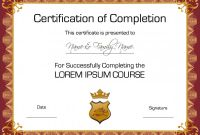 Free Training Completion Certificate Templates Awesome 022 Template Ideas Free Printable Certificates and Awards Luxury