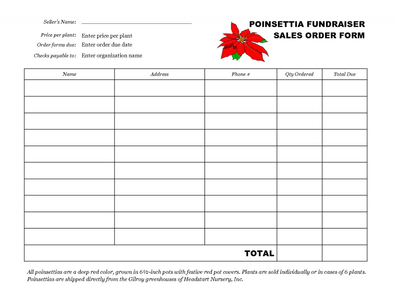 Fundraising Report Template New Free Fundraiser order form Template Fundraiser order form