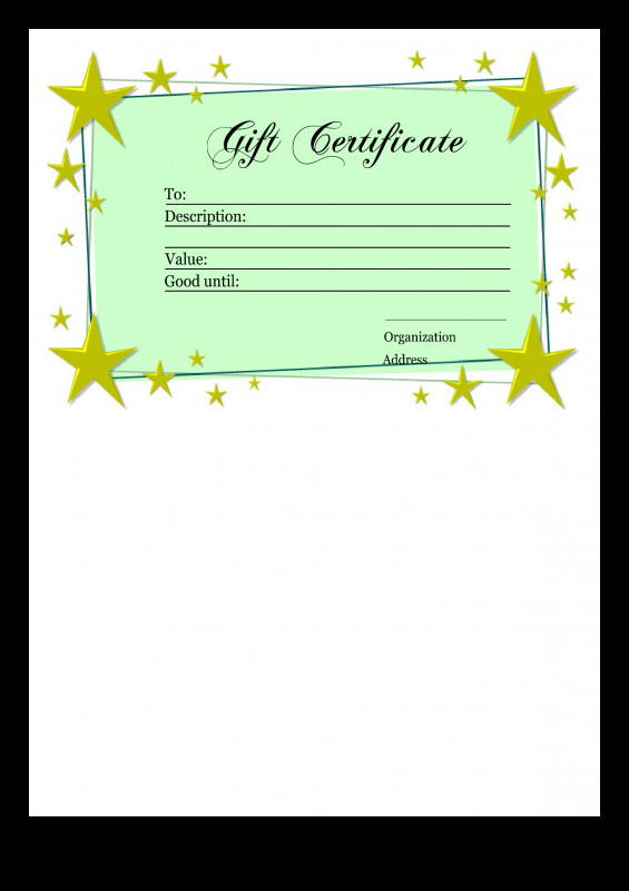 Gift Certificate Template Indesign Awesome Gift Certificate Template Transparent Png Clipart Free Download
