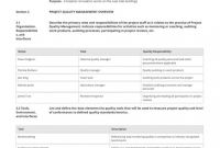 Gmp Audit Report Template Awesome 012 Template Ideas Quality Control Plan For Construction Page