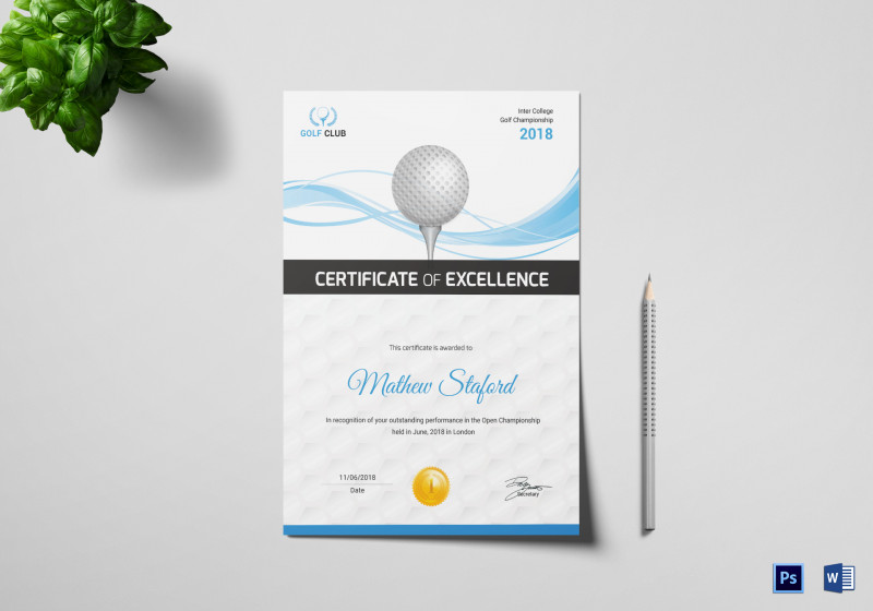 Golf Gift Certificate Template New Golf Certificate Templates For Word Maco Palmex Co
