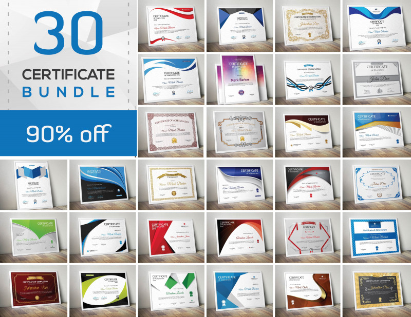 Green Belt Certificate Template New 50 Certificate Templates To Design Stunning Awards Creative Market