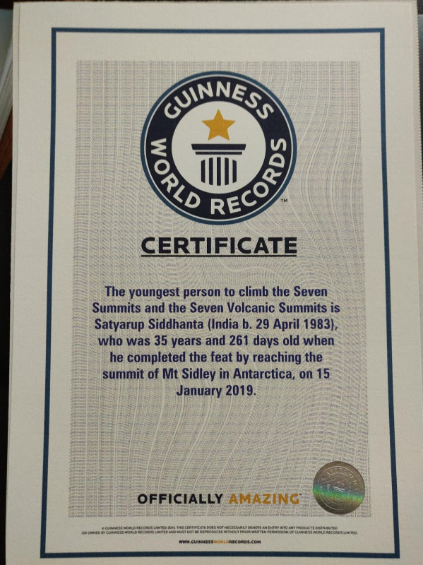 Guinness World Record Certificate Template New Prasanth Menon Lead Financial Consultant Ibs Software Services