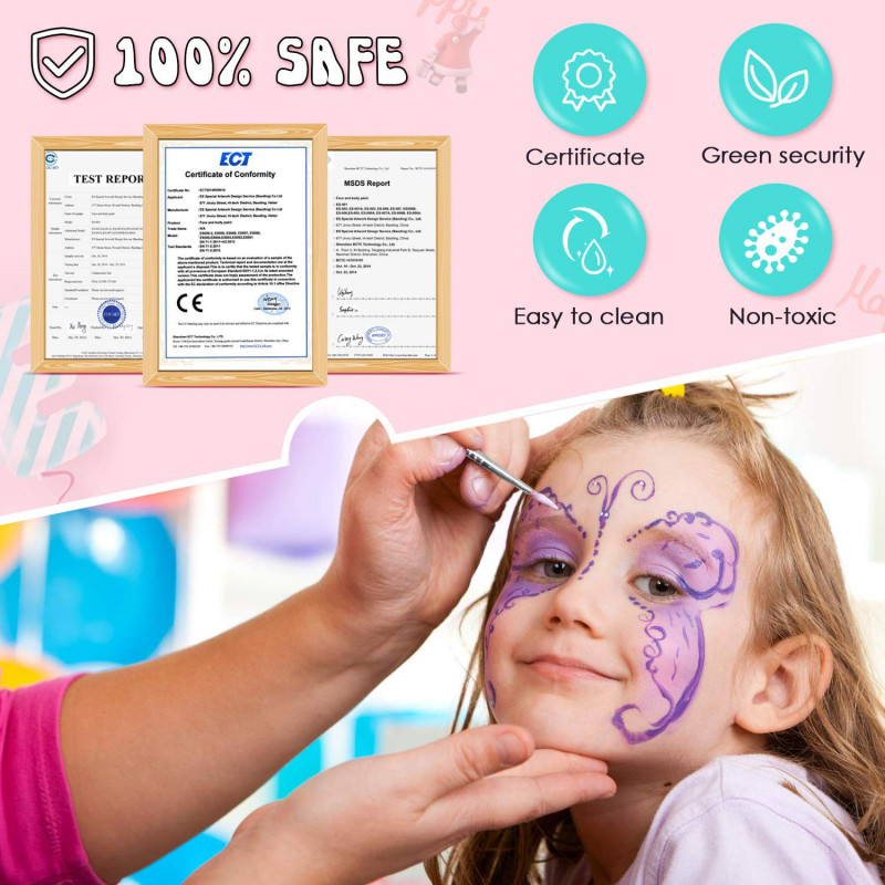 Halloween Costume Certificate Template Awesome Kidshobby 14 Colors Face Paint Kit for Kids Adults Face Paint Set