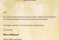 Harry Potter Certificate Template New Invitation Letter Templates Free Download Harry Potter Letter