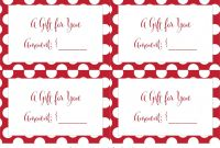 Homemade Christmas Gift Certificates Templates Awesome Free Christmas Gift Card Envelope Template Loveandrespect Us
