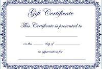 Homemade Gift Certificate Template Awesome Auto Detailing Gift Certificate Template Brochure Templates