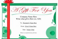 Homemade Gift Certificate Template New 006 Gift Certificate Template Free Download Diy Elegant Templates to
