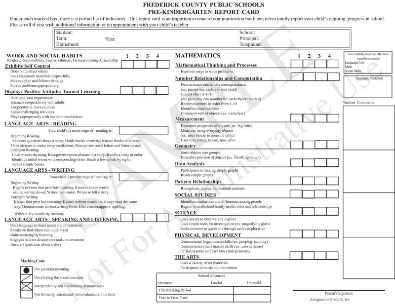 Homeschool Report Card Template Middle School New Report Card Template Excel Luxury Esl Student Report Card Template