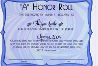 Honor Roll Certificate Template New Awards Certificates Templates for Word Koman Mouldings Co