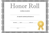 Honor Roll Certificate Template New Free Life Membership Certificate Templates Best Of Design Teamwork