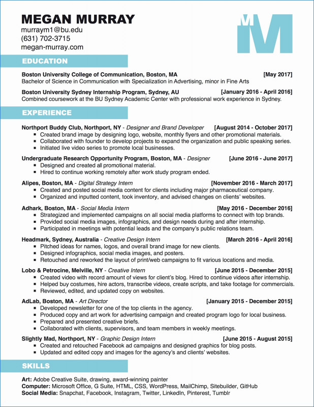 Html Report Template Download New Resume Templates for Interns Best the Perfect Resume Template Free