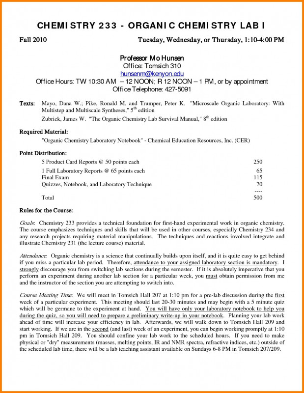 Ib Lab Report Template Professional Chemistry Lab Report Format Example College Pdf Template Doc At Ib