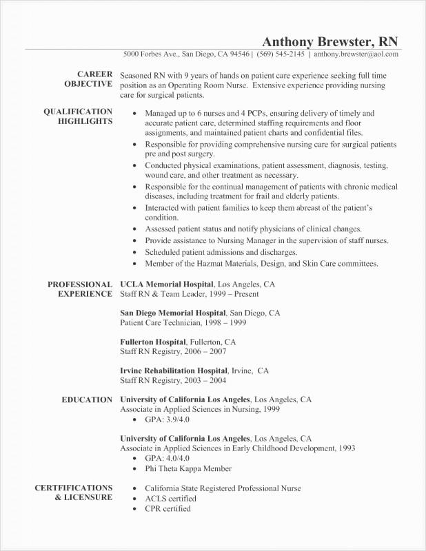 Icu Report Template Awesome Icu Nurse Job Description Resume Inspirational Example A Great
