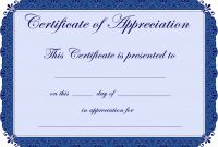 In Appreciation Certificate Templates Awesome Employee Recognition Certificate Leon Seattlebaby Co
