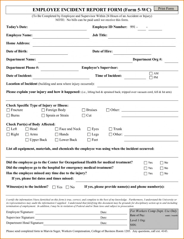 Incident Report Form Template Doc Awesome 010 Employee Incident Report Template Free Templates Form Remarkable