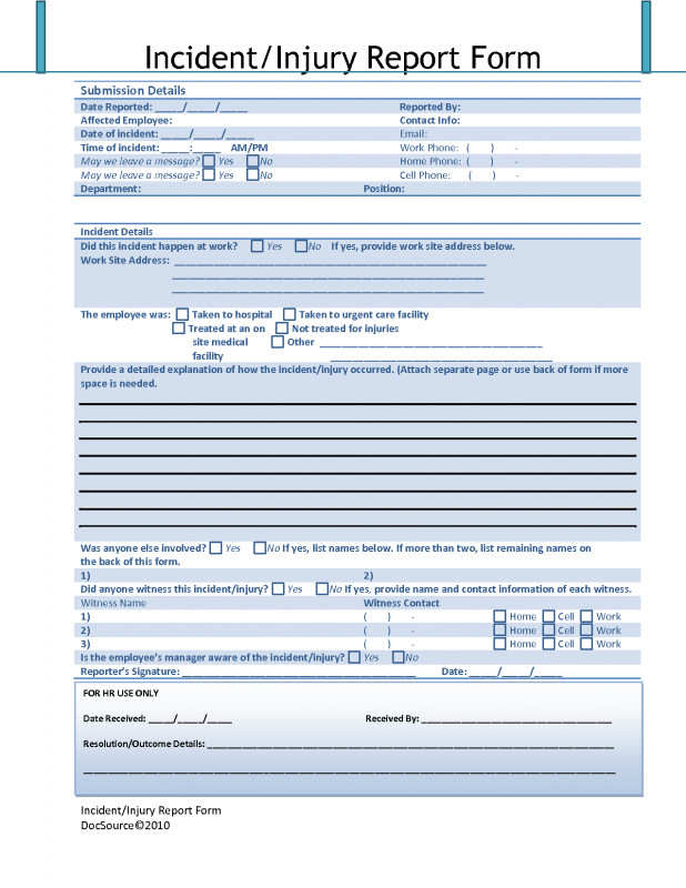 Incident Report Template Itil Professional Nice Accident Incident Report Images Gallery Test Accident