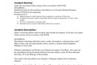 Incident Summary Report Template New Example Of Incident Report Letter for Security Guard format Bitwrk Co